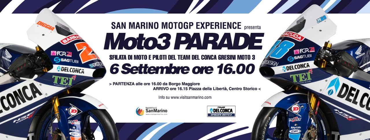 Moto 3 Parade a Borgo Maggiore e Città