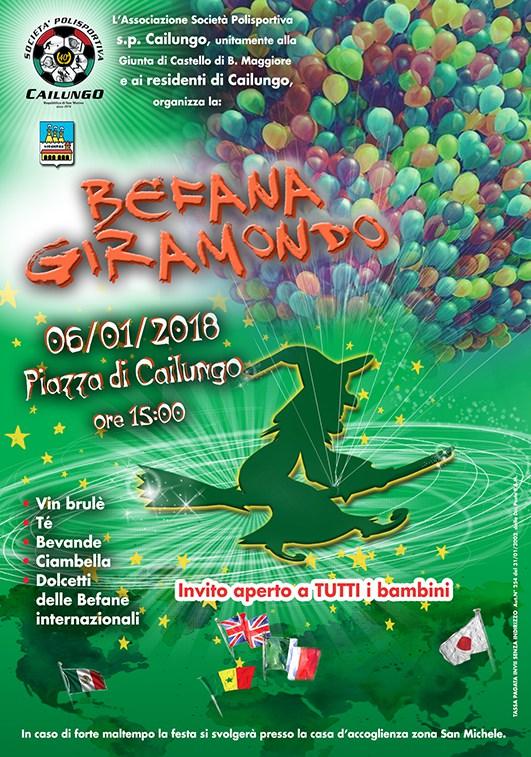 Arriva a Cailungo la Befana Giramondo
