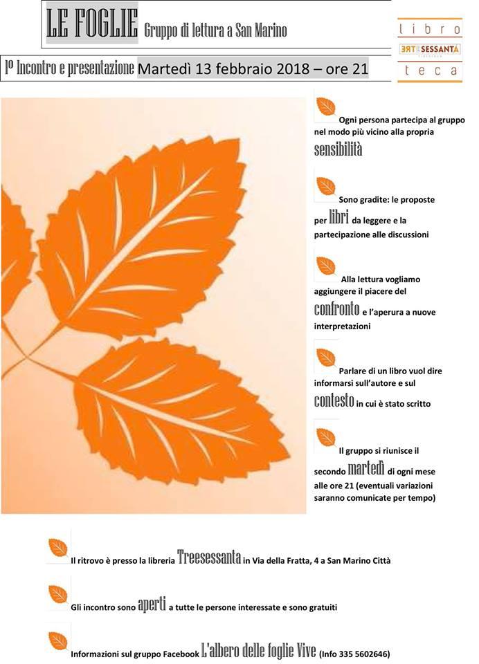 """""""Le foglie"""", nasce il primo gruppo di lettura sammarinese"""