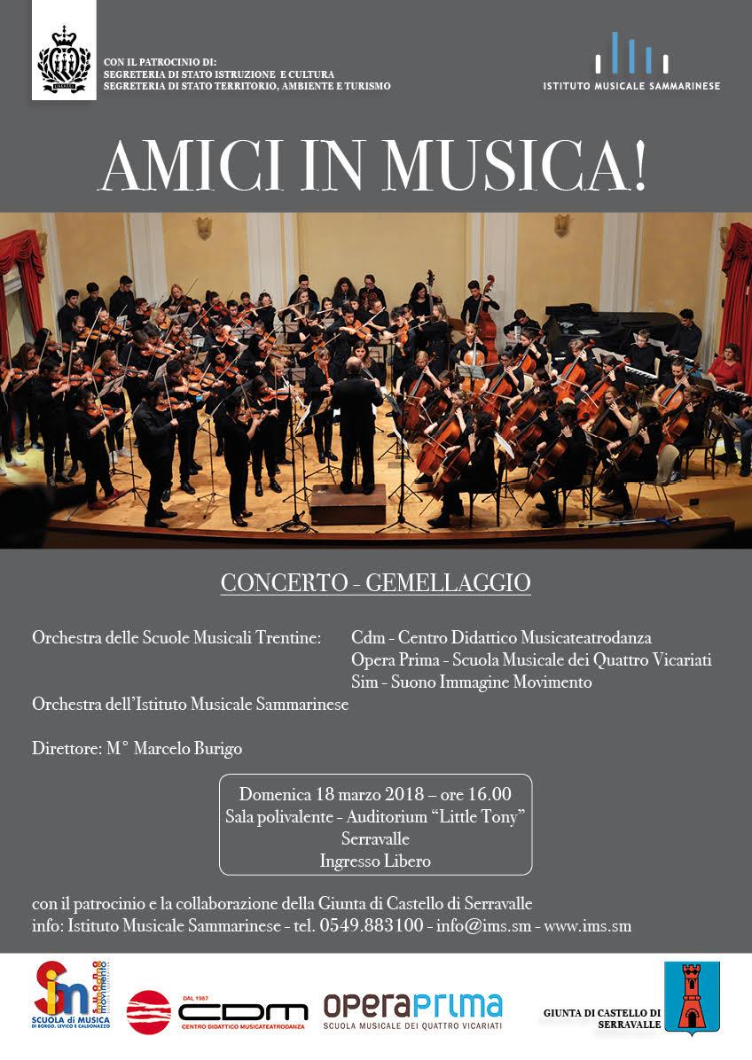 Amici in Musica: concerto gemellaggio IMS – CDM