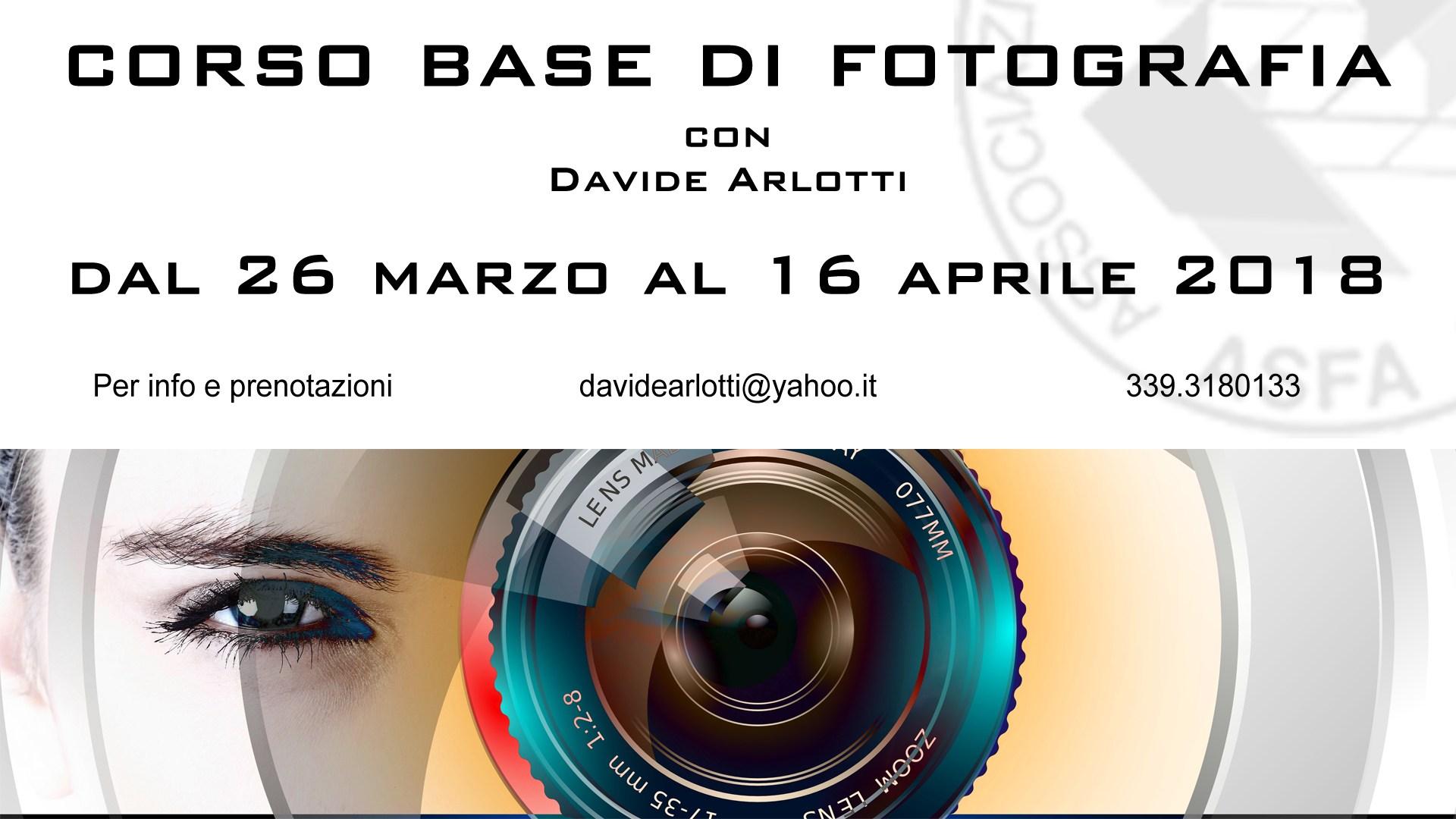 Corso Base di Fotografia presso la sede ASFA dal 26 marzo