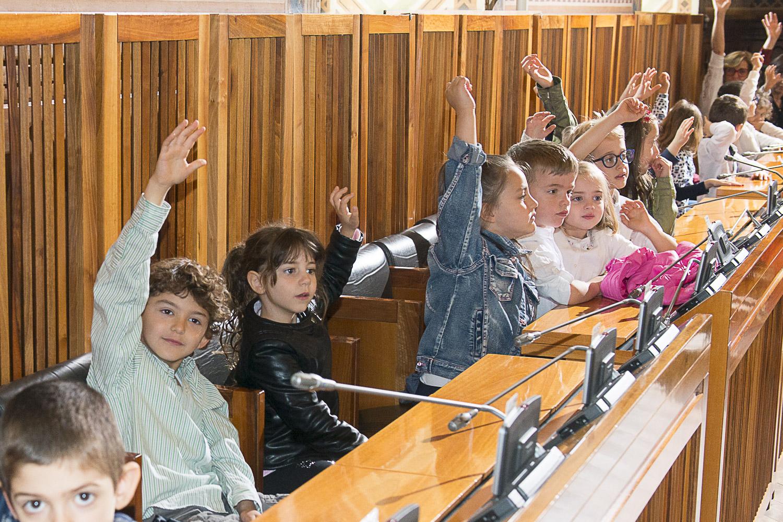 I bambini delle scuole dell'infanzia a Palazzo