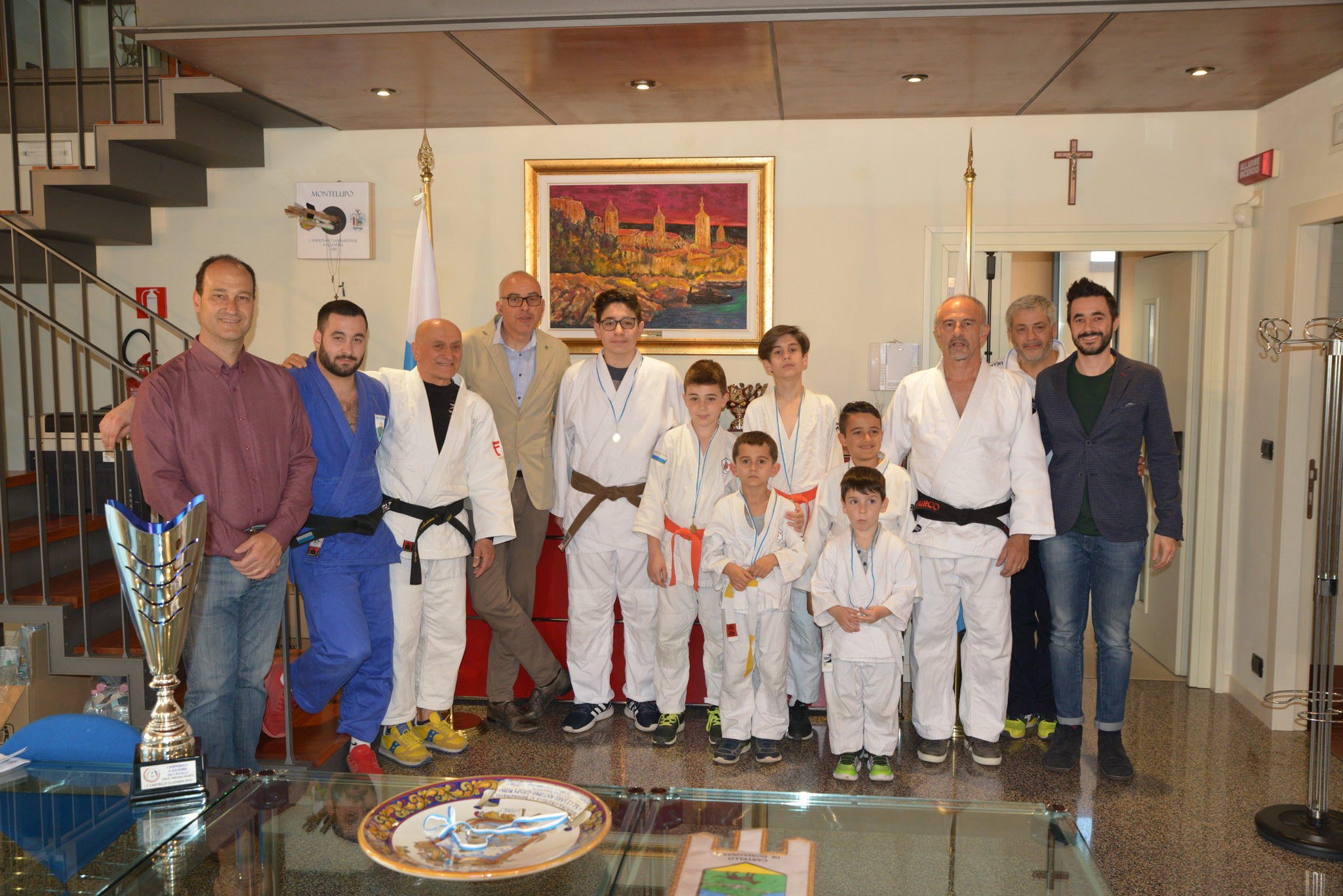 Consegnato il 1°Trofeo di Judo dei Castelli a squadre alla Giunta di Domagnano