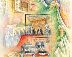 Una serie di tre francobolli per il 10° anniversario UNESCO