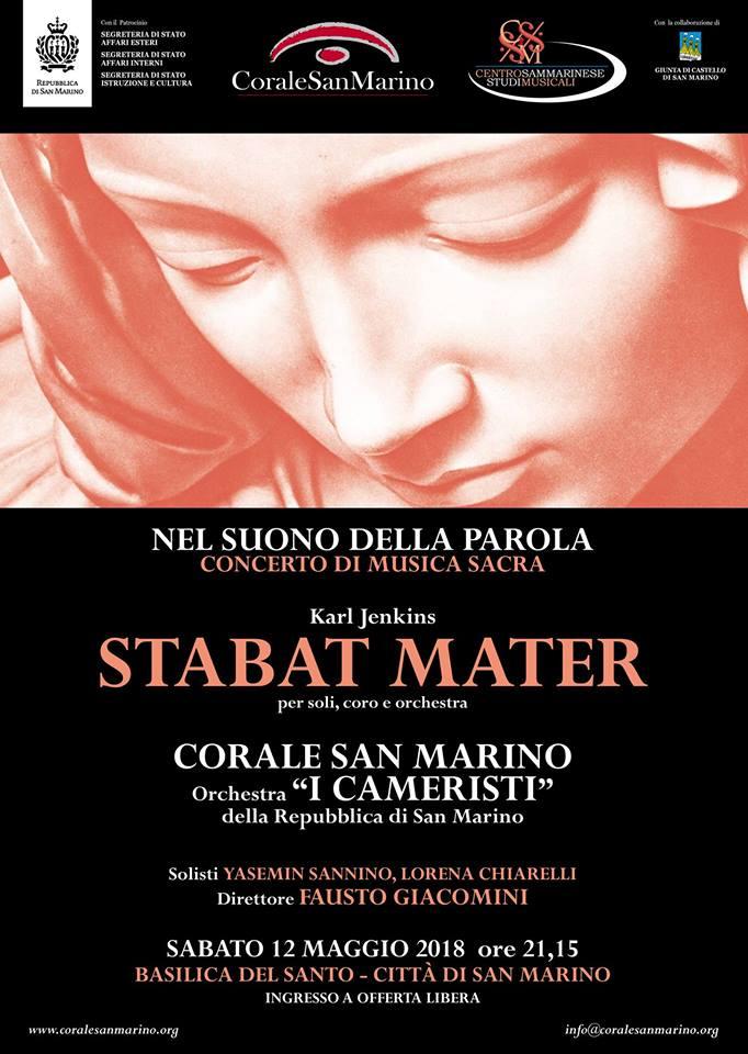 """Sabato, in Pieve, la Corale San Marino interpreterà lo """"Stabat Mater"""" di Jenkins"""