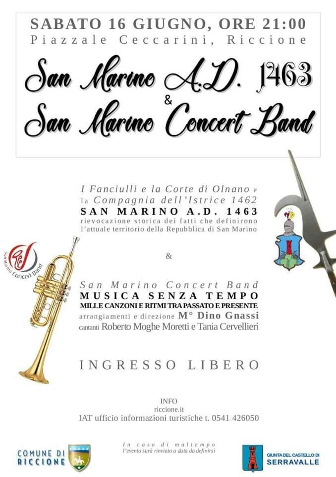 Musica senza tempo, la San Marino Concert Band a Riccione