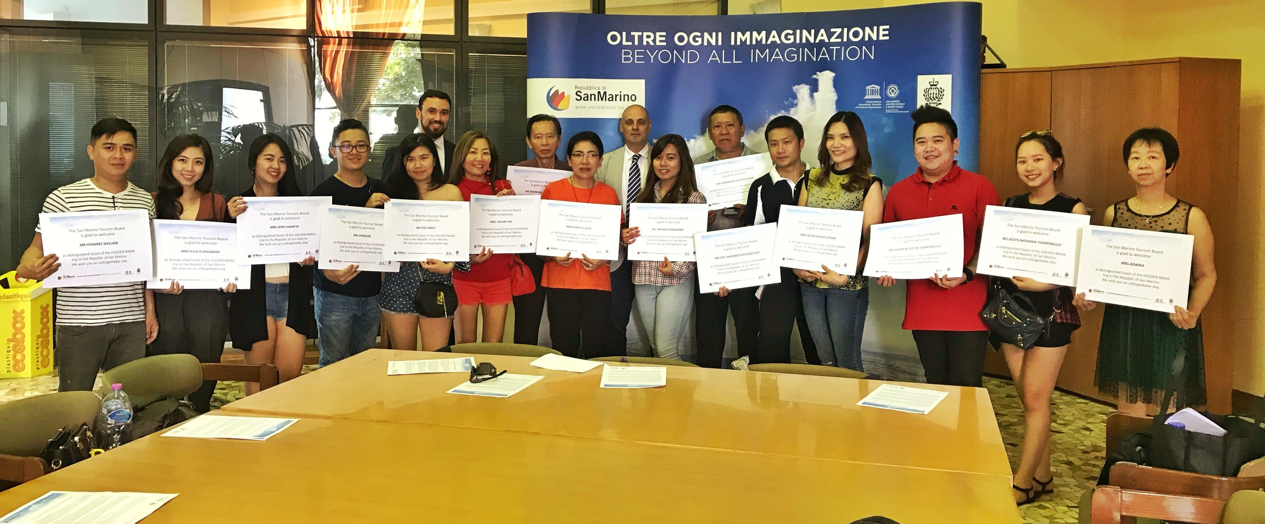 Ancora in arrivo gruppi di turisti indonesiani a San Marino