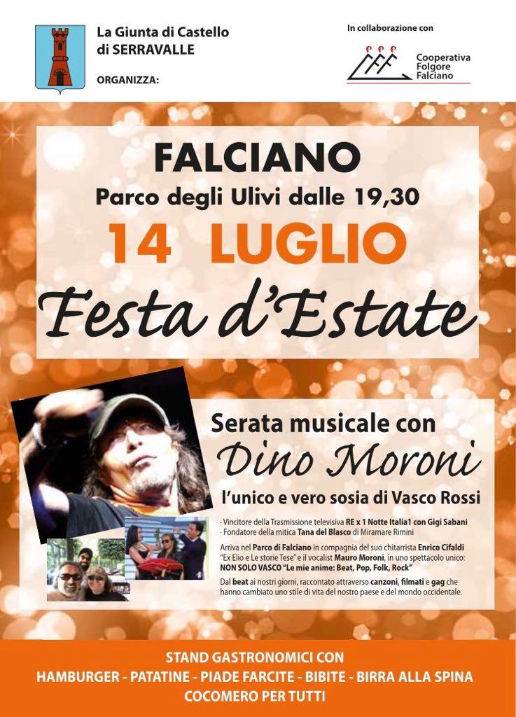 """Falciano, sabato 14 luglio 2018 – """"FESTA D'ESTATE"""""""