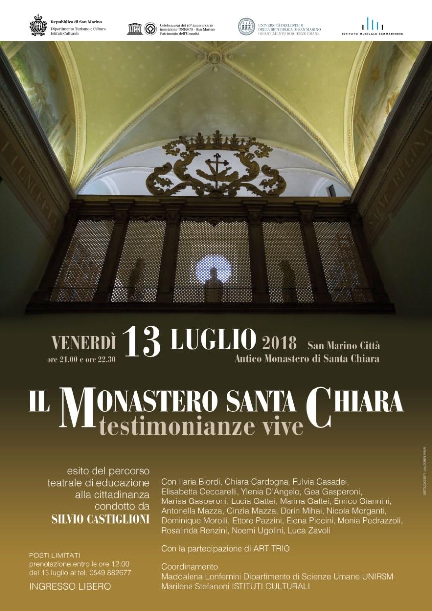 Il Monastero  Santa Chiara – testimonianze vive