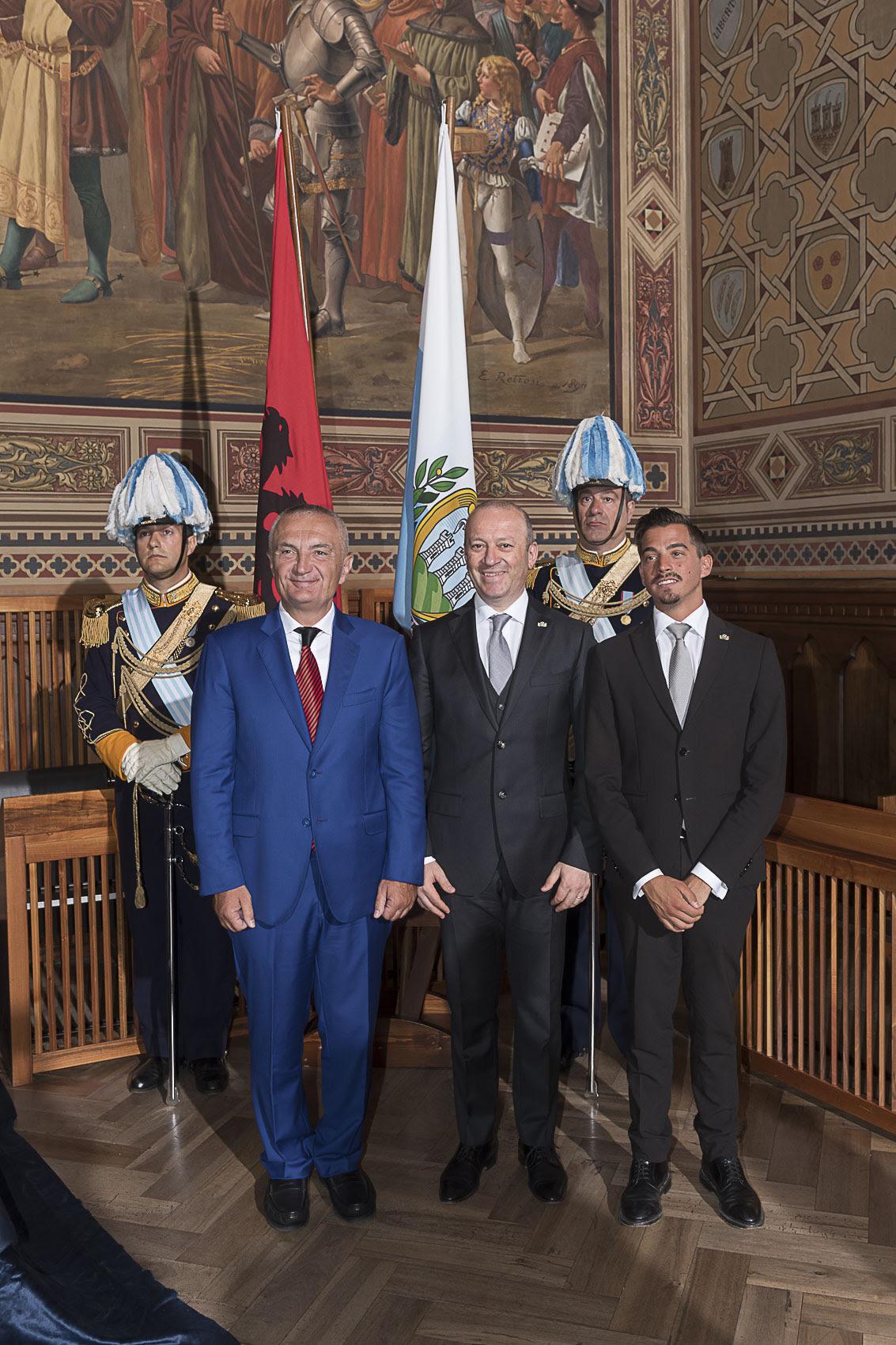 Il Presidente della Repubblica d'Albania in visita di Stato