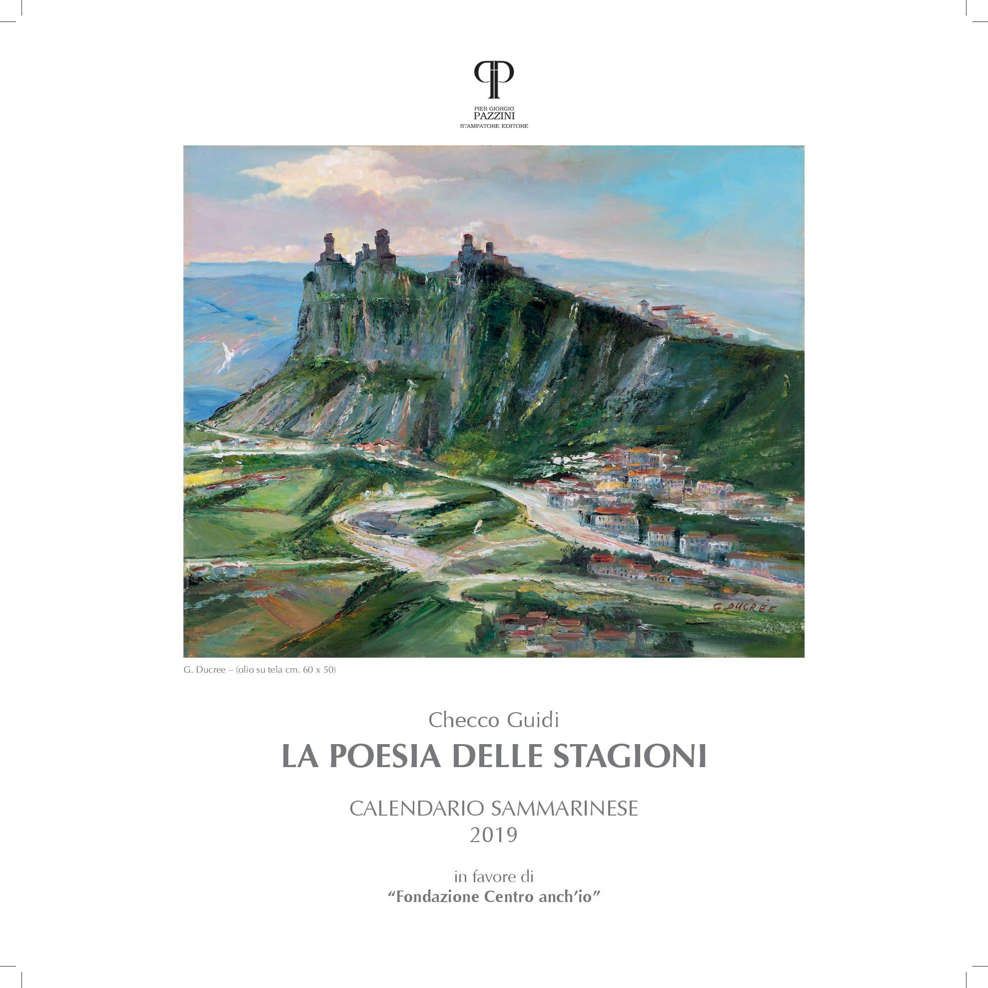 """""""La poesia delle stagioni"""" il calendario 2019 firmato da Checco Guidi"""