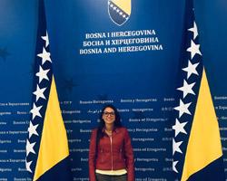 Daniela Giannoni rappresentante per San Marino in Bosnia-Herzegovina
