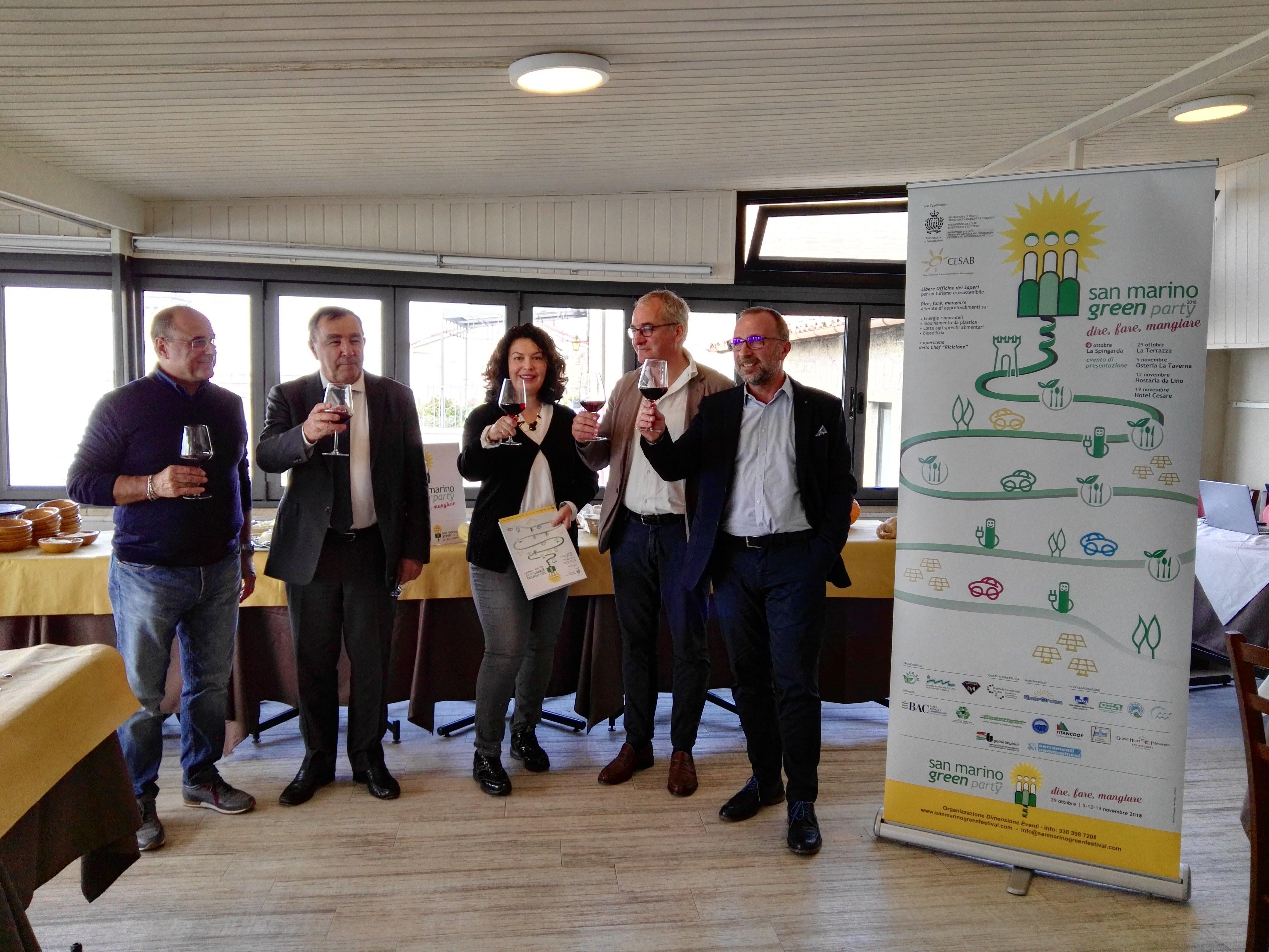 San Marino Green Party: aperitivi a tema sostenibilità