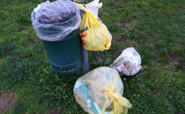 Costretti a rimuovere i contenitori per i rifiuti dal parco Ausa