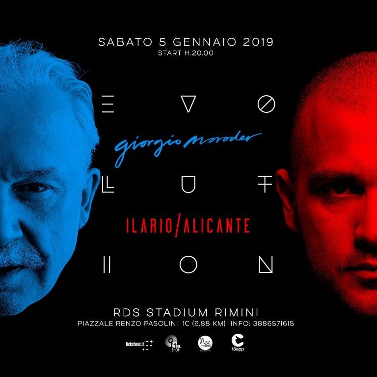 EVOLUTION: Giorgio Moroder e Ilario Alicante – RDS Stadium di Rimini