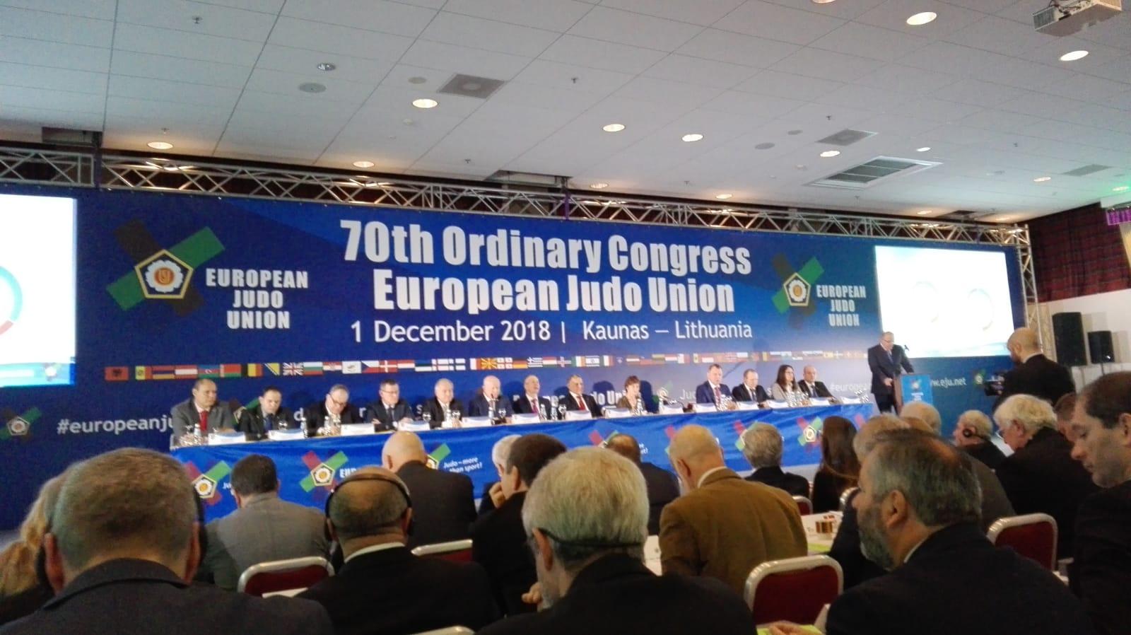 San Marino al 70° Congresso EJU, European Judo Union, Kaunas 2018