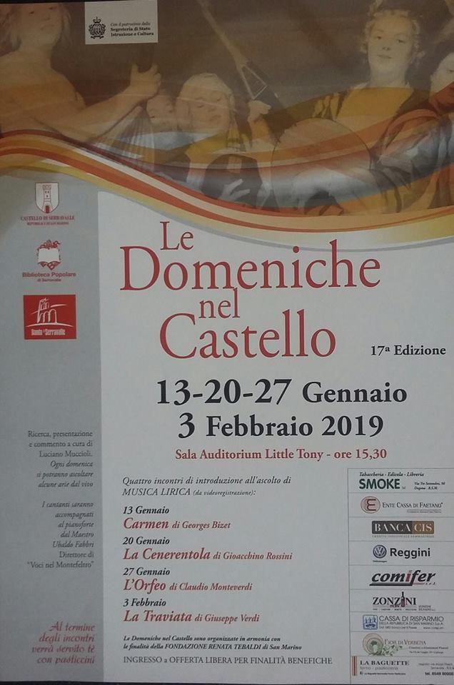 """Torna ad alzarsi il sipario su: """"Le domeniche nel Castello"""""""
