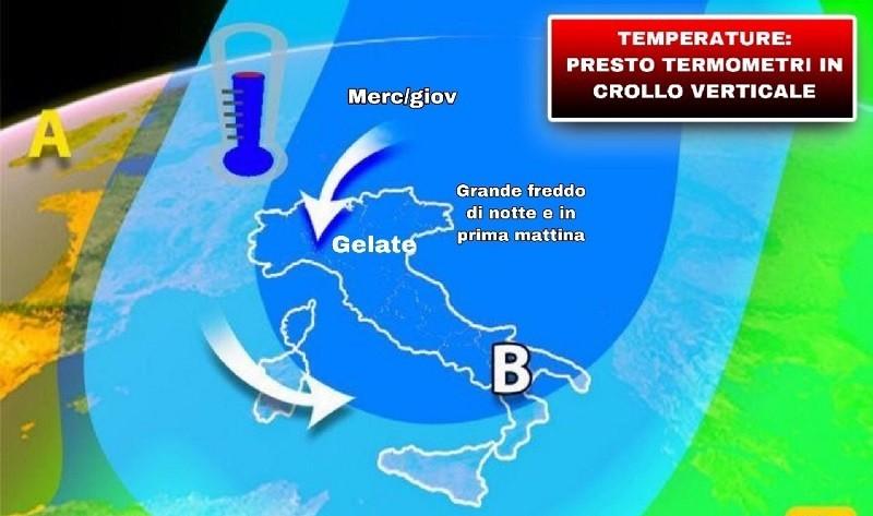 Previsioni meteo: il freddo concede una breve tregua