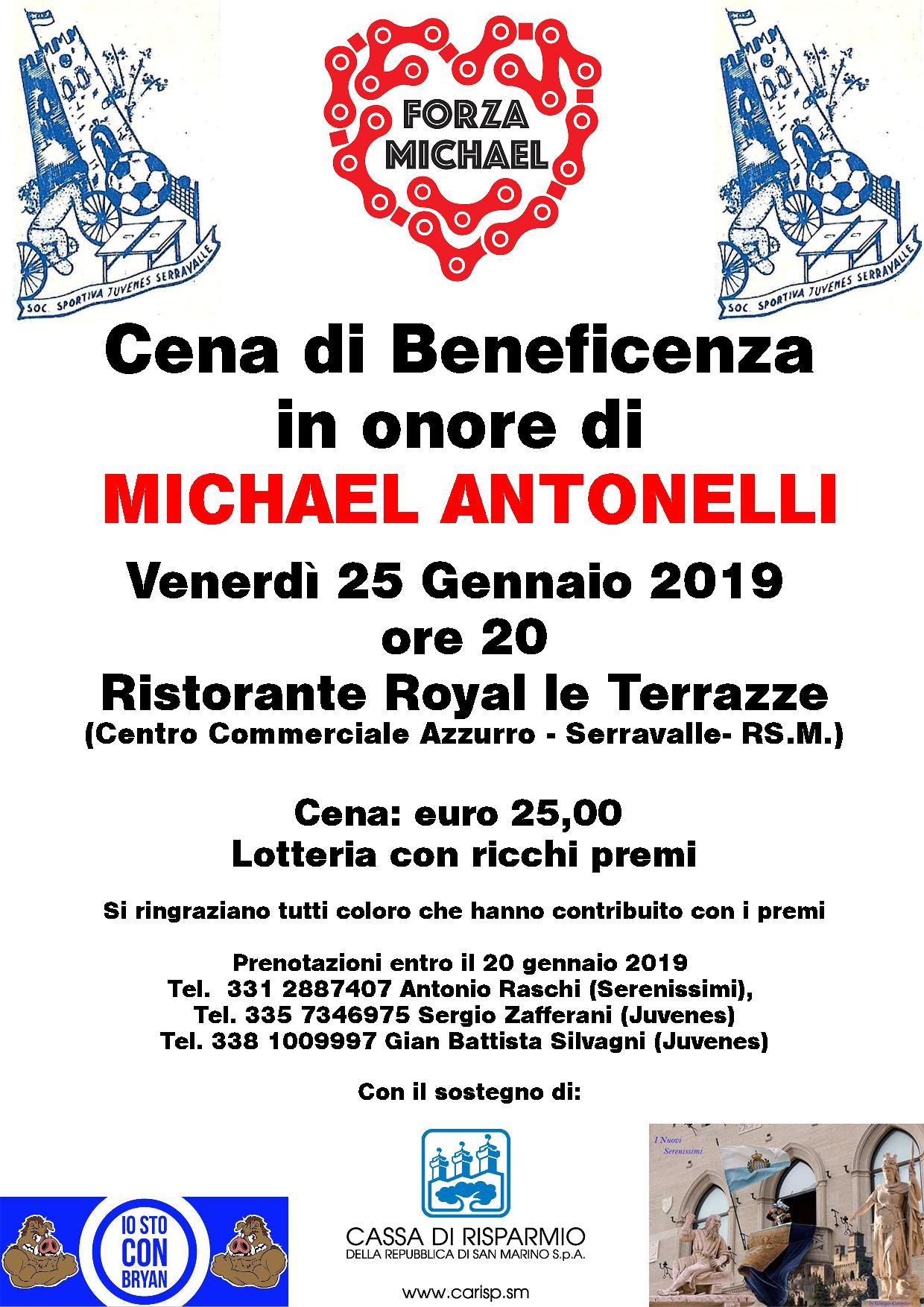 Una serata di solidarietà per Michael Antonelli