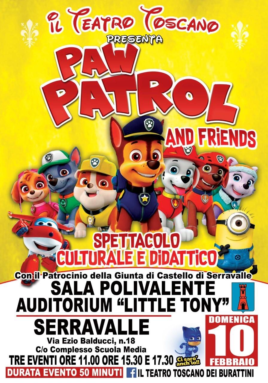 Pow Patrol and friends alla sala polivalente di Serravalle