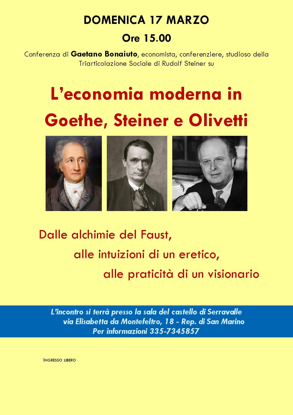 Conferenza di Gaetano Bonaiuto a Serravalle